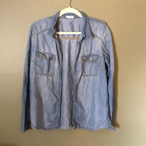 Maurice's denim button down shirt